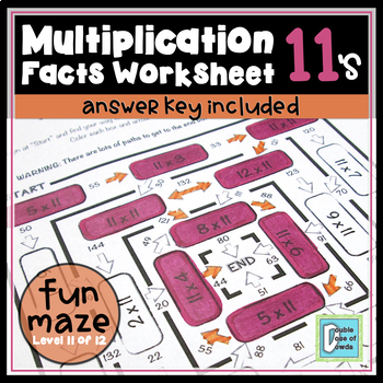 Multiplication Facts Maze 11's