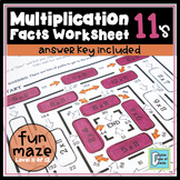 Multiplication Facts Worksheet 11's