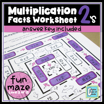 Multiplication Facts Maze 2's