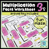 Multiplication Facts Worksheet 3's