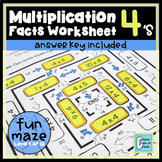Multiplication Facts Worksheet 4's