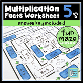 Multiplication Facts Worksheet 5's