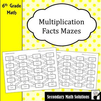 Multiplication Facts Maze