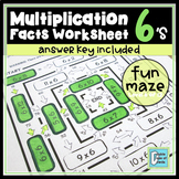 Multiplication Facts Worksheet 6's