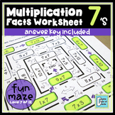 Multiplication Facts Worksheet 7's