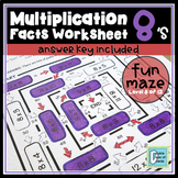 Multiplication Facts Worksheet 8's