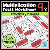Multiplication Facts Worksheet 9's