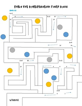 Multiplication Facts Mazes