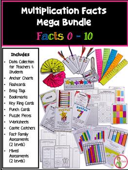 Multiplication Facts Mega Bundle - Facts 1-10