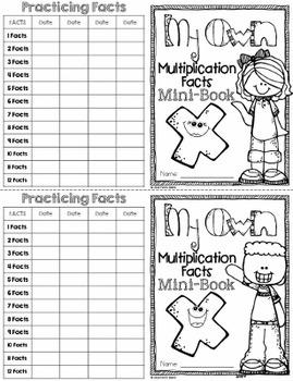 Multiplication Facts Mini Book