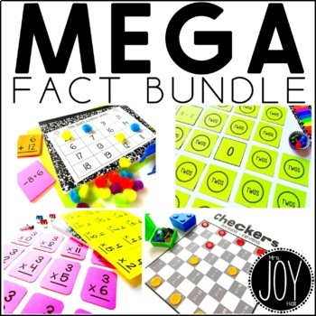 Math Facts Bundle - Addition, Subtraction, Multiplication, Division