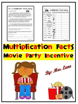 Multiplication Facts Movie Party Incentive