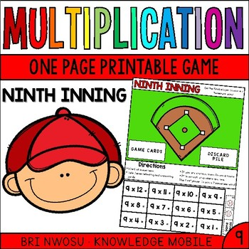 Multiplication Facts - Nine Printable Game