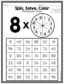 Multiplication Facts NO PREP Partner Games