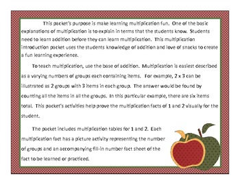 Multiplication Facts:  Ones and Twos