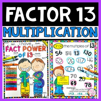 Multiplication Facts Practice Multiplying by 13