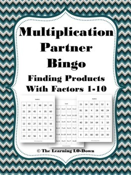 Multiplication Facts Partner Bingo