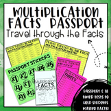 Multiplication Facts Passport