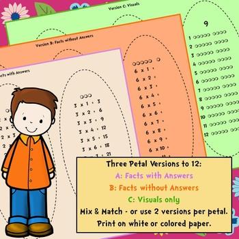 Multiplication Facts Petals Craftivity