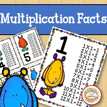 Multiplication Facts Posters Monsters