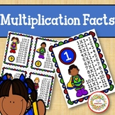 Multiplication Facts Posters Super Hero
