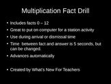 Multiplication Facts Powerpoint 0 - 12