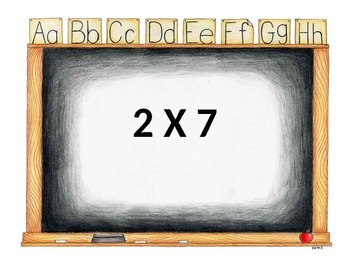 Multiplication Facts Powerpoint Flashcards 2-12