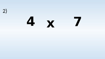 Multiplication Facts Powerpoint Practice or Quiz