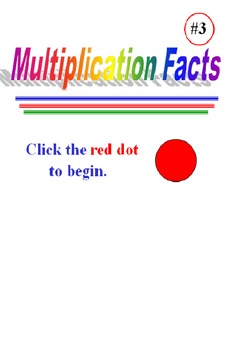 Multiplication Facts Powerpoint Three