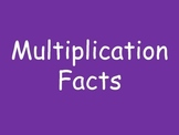 Multiplication Facts Ppt