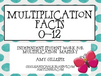 Multiplication Facts Practice 1-12 Mega Pack