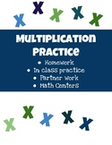 Multiplication Facts Practice 1-12 Pack
