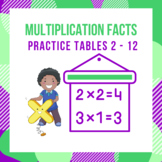 Multiplication Facts Practice Tables 2 - 12
