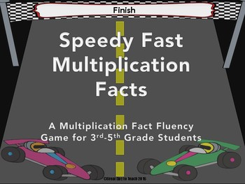 Multiplication Facts Practice Game