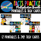 Multiplication Facts Practice COMPLETE BUNDLE Task Cards P