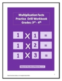 Multiplication Facts Practice Drill Workbook