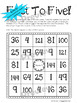 Multiplication Facts Practice Game: First To Five! (1s-12s and Square Numbers!)