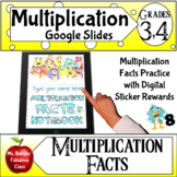 Multiplication Facts Practice Google Slides Math Notebook
