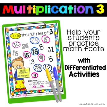 Multiplication Facts Practice Multiplying by 3