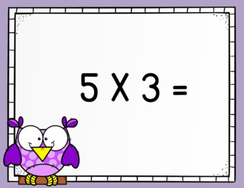 Multiplication Facts Practice PowerPoint