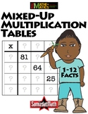 Multiplication Facts Practice & Problem Solving: Mixed Up Tables