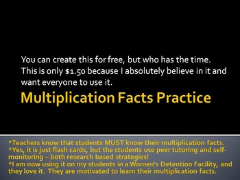 Multiplication Facts Practice - Research Based Strategies Used