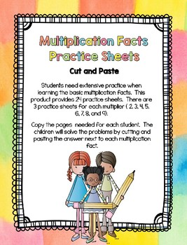 Multiplication Facts - Practice Sheets