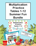 Multiplication Facts Practice - Tables 1-12- Summer Fun Bundle