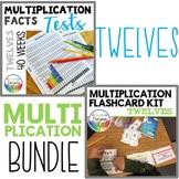 Multiplication Facts Practice Tests Bundle TWELVES