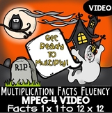 Multiplication Facts Practice Video: Halloween Theme for Multiplication Fluency