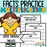 Multiplication Facts Practice Worksheets  Assessment, Home