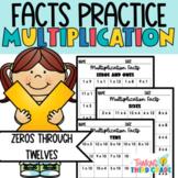 Multiplication Facts Practice Worksheets - Assessment or Homework