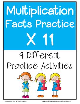 Multiplication Facts X11 Practice Activities