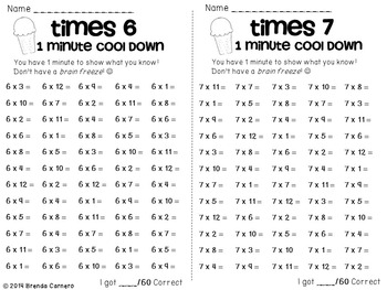 Multiplication Facts Practice and Motivation: Mmmm! Mmmm! Multiplication Scoops